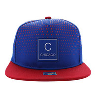 SM852 Chicago City Snapback (Roayl & Red)