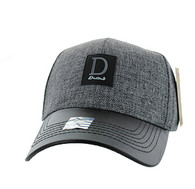 VM859 Dallas Cotton Baseball Cap Hat (Grey & Navy)