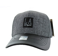 VM859 Los Angeles City Baseball Cap Hat (Grey & Black)