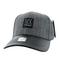 VM859 Mexico Baseball Cap Hat (Grey & Black)