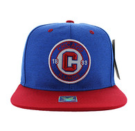 SM804 Chicago City Snapback (Royal & Red)