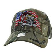 VM304 American USA Truck Velcro Cap (Solid Hunting Camo)