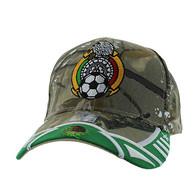 VM421 Mexico Soccer Velcro Cap (Hunting Camo & Kelly Green)