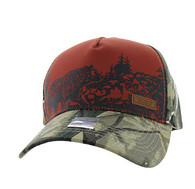 VM857 Hunting Bear Velcro Cap (Brown & Camo)