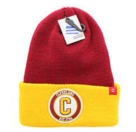 WB181 Cleveland Long Beanie (Wine & Gold)