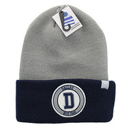 WB181 Dallas Long Beanie (Grey & Navy)