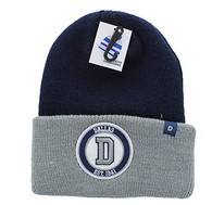 WB181 Dallas Long Beanie (Navy & Grey)