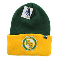 WB181 Green Bay Long Beanie (Dark Green & Gold)