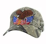 VM284 American USA Eagle Velcro Cap (Solid Hunting Camo)