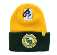 WB181 Green Bay Long Beanie (Gold & Dark Green)