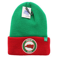 WB181 Hecho En Mexico Long Beanie (Kelly Green & Red)