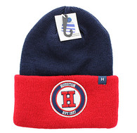WB181 Houston Long Beanie (Navy & Red)