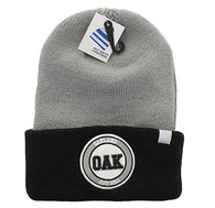 WB181 Oakland Long Beanie (Grey & Black)