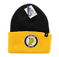 WB181 Pittsburgh Long Beanie (Black & Gold)