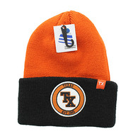 WB181 Texas Long Beanie (Texas Orange & Black)