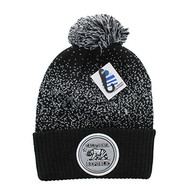 WB182 Cali Bear Pom Pom Beanie (Black & Light Grey)