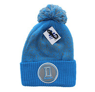 WB182 Detroit Pom Pom Beanie (Sky Blue & Light Grey)