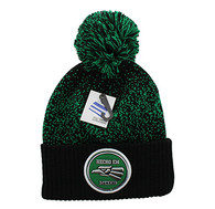 WB182 Hecho En Mexico Pom Pom Beanie (Black & Kelly Green)