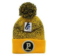 WB182 Pittsburgh Pom Pom Beanie (Gold & Black)