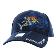 VM319 Marlin Outdoor Sports Velcro Cap (Solid Navy)