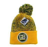 WB182 Green Bay Pom Pom Beanie (Gold & Dark Green)