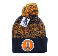 WB182 Denver Pom Pom Beanie (Navy & Orange)