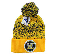 WB182 Michigan Pom Pom Beanie (Gold & Black)