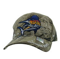 VM319 Marlin Outdoor Sports Velcro Cap (Solid Hunting Camo)
