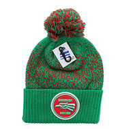 WB182 Hecho En Mexico Pom Pom Beanie (Kelly Green & Red)