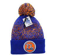 WB182 Florida Pom Pom Beanie (Royal & Orange)