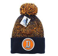 WB182 Detroit Pom Pom Beanie (Black & Orange)