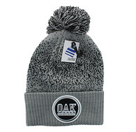 WB182 Oakland Pom Pom Beanie (Light Grey & Black)