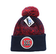 WB182 New England Pom Pom Beanie (Dark Green & Gold)