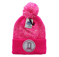 WB182 Dallas Pom Pom Beanie (Hot Pink & White)