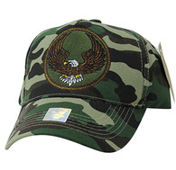 VM547 Eagle Cotton Velcro Cap (Solid Military Camo)
