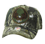 VM547 Eagle Cotton Velcro Cap (Solid Hunting Camo)