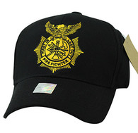 VM754 Fire Fighter Velcro Cap (Solid Black)