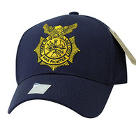 VM754 Fire Fighter Velcro Cap (Solid Navy)