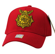 VM754 Fire Fighter Velcro Cap (Solid Red)