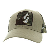 VM403 Lone Wolf Velcro Cap (Khaki & Hunting Camo)