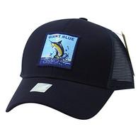 VM884 Giant Blue Mesh Snapback Cap (Solid Navy)