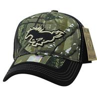 VM899 Horse Velcro Cap (Hunting Camo & Black)