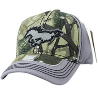 VM899 Horse Velcro Cap (Hunting Camo & Grey)