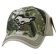 VM899 Horse Velcro Cap (Hunting Camo & Khaki)