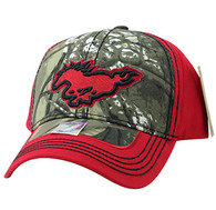 VM899 Horse Velcro Cap (Hunting Camo & Red)