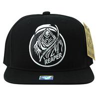 SM801 Reaper Cotton Snapback Cap (Black & Black)