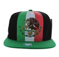 SM810 Mexico Snapback Cap (Black & Kelly Green)