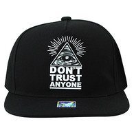 SM914 Don't Trust Anyone Snapback Cap Hat (Black & Black)