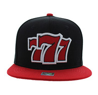 SM770 777 Snapback Cap (Black & Red)