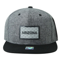 SM814 Arizona Cotton Snapback Cap Hat (Charcoal & Black)